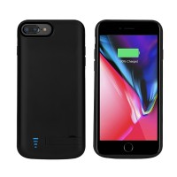 RUNSY Battery Case Compatible with iPhone 8 Plus / 7 Plus / 6S Plus / 6 Plus, 8000mAh Rechargeable Extended Battery Charging Case, External Battery Charger Case, Backup Power Bank Case, Support Wired Headphones (New 5.5 inch)