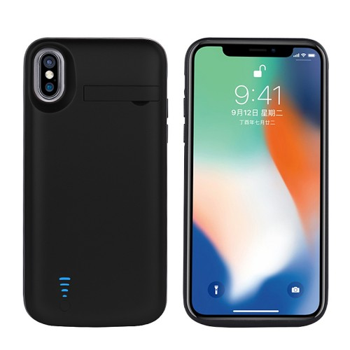 RUNSY Battery Case Compatible with iPhone X / XS, 5000mAh Rechargeable Extended Battery Charging Case, External Battery Charger Case, Backup Power Bank Case, Support Wired Headphones (5.8 inch)