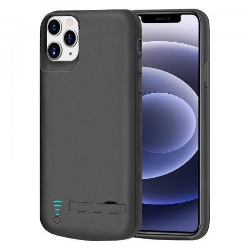 RUNSY Battery Case for iPhone 12 Pro Max, 6000mAh Rechargeable Extended Battery Charging / Charger Case, Add 100% Extra Juice, Support Wire Headphones (6.7 inch)