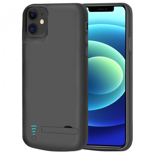 RUNSY Battery Case for iPhone 12 mini, 4000mAh Rechargeable Extended Battery Charging / Charger Case, Add 100% Extra Juice, Support Wire Headphones (5.4 inch)