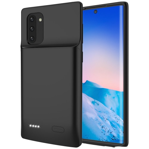 RUNSY Battery Case for Samsung Galaxy Note 10, 5200mAh Rechargeable Extended Battery Charging Charger Case with RAISED BEZEL, Add 100% Extra Juice