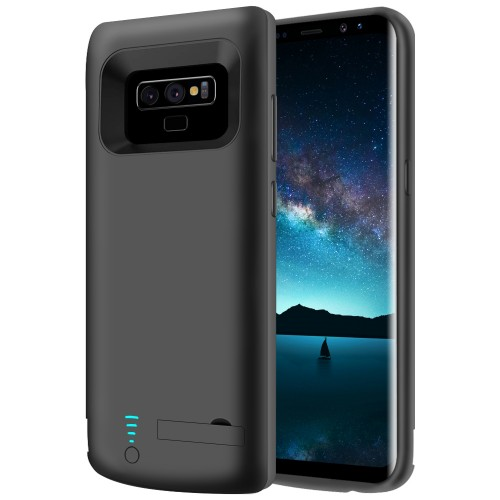 RUNSY Samsung Galaxy Note 9 Battery Case, 5000mAh Rechargeable Battery Charging / Charger Case with S-Pen Hole, Adds 90% Extra Juice, Charges 2 Devices Simultaneously