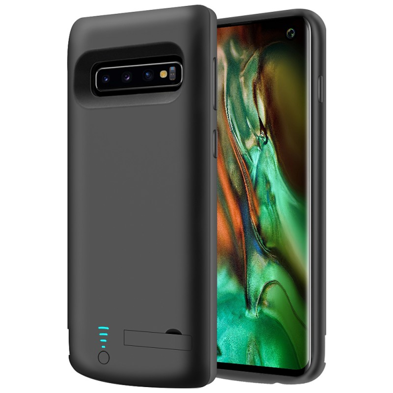 RUNSY Battery Case Compatible with Samsung Galaxy S10, 6000mAh Rechargeable Extended Battery Charging Case, External Battery Charger Case, Adds 1.5x Extra Juice (6.1 inch for Galaxy S10)