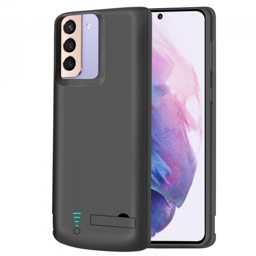 RUNSY Battery Case for Samsung Galaxy S21+ Plus 5G, 5000mAh Rechargeable Extended Battery Charging Charger Case, Add 100% Extra Juice, Not Compatible with S21 or S21 Ultra (6.7 inch)