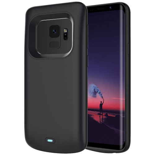 RUNSY Battery Case for Samsung Galaxy S9, 4700mAh Rechargeable Extended Battery Charging Case, External Battery Charger Case, Add 100% Extra Juice