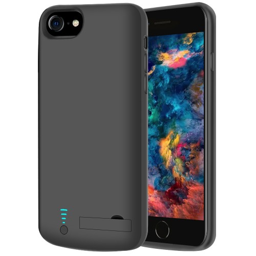 RUNSY Battery Case Compatible with iPhone SE 2020 / 8 / 7 / 6S / 6, 5500mAh Rechargeable Extended Battery Charging Case, External Battery Charger Case, Adds 2x Extra Juice, Support Wired Headphones (4.7 inch)
