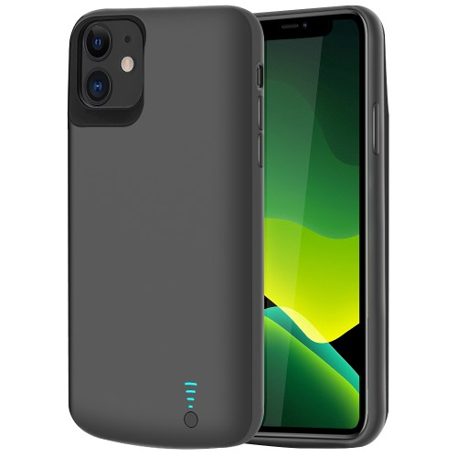 RUNSY Battery Case for iPhone 11, 6000mAh Rechargeable Extended Battery Charging Case, External Battery Charger Case, Add 120% Extra Juice, Support Wire Headphones