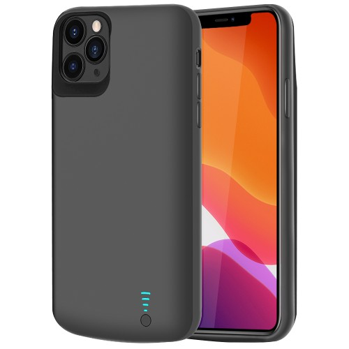 RUNSY Battery Case for iPhone 11 Pro Max, 6000mAh Rechargeable Extended Battery Charging Case, External Battery Charger Case, Add 110% Extra Juice, Support Wire Headphones