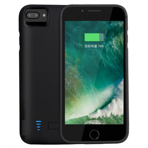 RUNSY Battery Case for iPhone 8 Plus/ 7 Plus/ 6S Plus/ 6 Plus, 8200mAh Rechargeable Battery Charging / Charger Case with Raised Bezel, Adds 2x Extra Juice, Charges 2 Devices Simultaneously (5.5 inch)