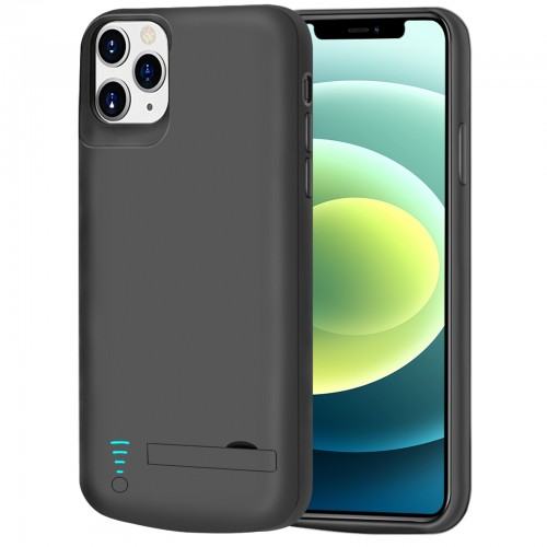 RUNSY Battery Case for iPhone 12 & iPhone 12 Pro, 5000mAh Rechargeable Extended Battery Charging / Charger Case, Add 100% Extra Juice, Support Wire Headphones (6.1 inch)