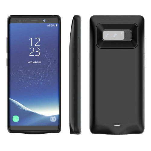 RUNSY Galaxy Note 8 Battery Case, 5500mAh Rechargeable Extended Battery Charging Case for Samsung Galaxy Note 8, External Battery Charger Case, Backup Power Bank Case