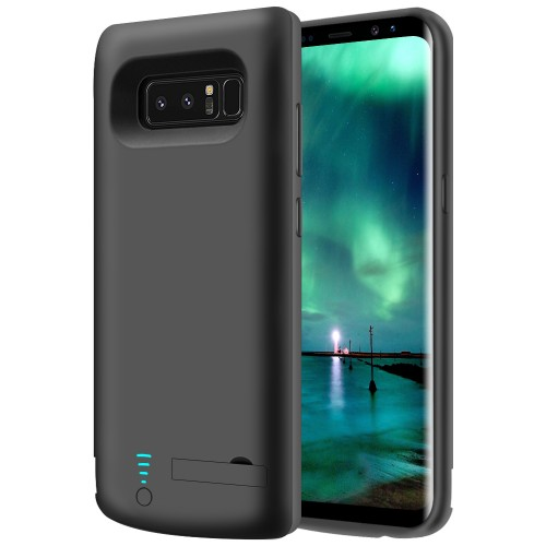 RUNSY Samsung Galaxy Note 8 Battery Case, 6500mAh Rechargeable Battery Charging / Charger Case with S-Pen Hole, Adds 1.4x Extra Juice, Charges 2 Devices Simultaneously