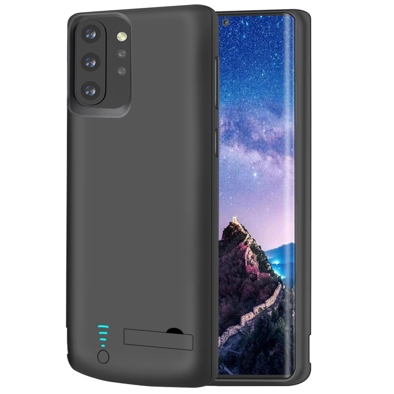 RUNSY Battery Case for Samsung Galaxy Note 10+ Plus 5G, 6000mAh Rechargeable Extended Battery Charging Case, External Battery Charger Case, Add 100% Extra Juice