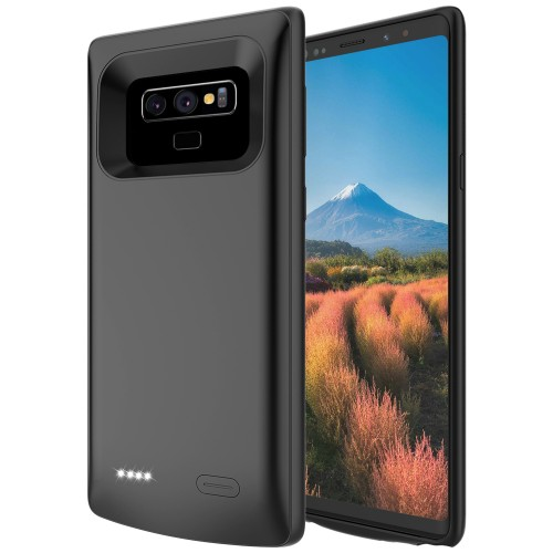 RUNSY Battery Case for Samsung Galaxy Note 9, 5000mAh Rechargeable Extended Battery Charging Charger Case, Add 100% Extra Juice